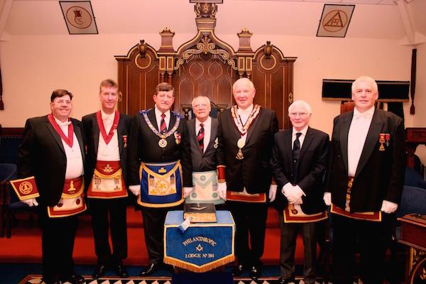 Deputation to Lodge Philanthropic No 304 EC.